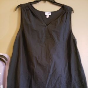 Maternity tank top black large new without tags
